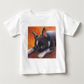 Boston Terrier painting dog Svetlana Novikova Infant T-shirt