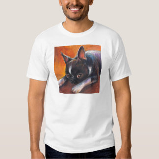 Boston Terrier painting dog Svetlana Novikova Tee Shirt