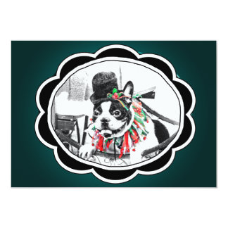 BOSTON TERRIER PARTY CARD