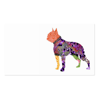 Boston Terrier Patchwork Pet Business Cards