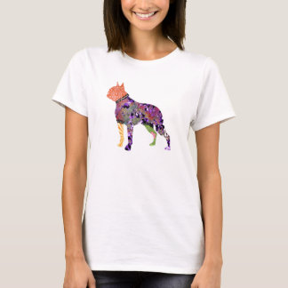 Boston Terrier Patchwork Pet T-Shirt