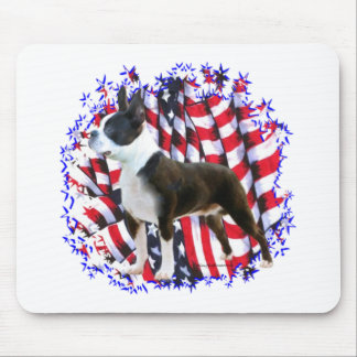 Boston Terrier Patriot Mouse Pad