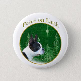 Boston Terrier Peace Pinback Button