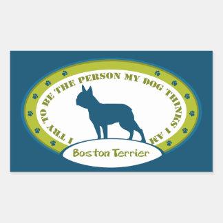 Boston Terrier Rectangular Altavoz