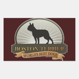 Boston Terrier Pegatina Rectangular