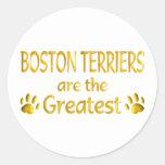 Boston Terrier Pegatinas