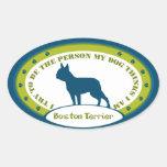 Boston Terrier Pegatinas De Oval