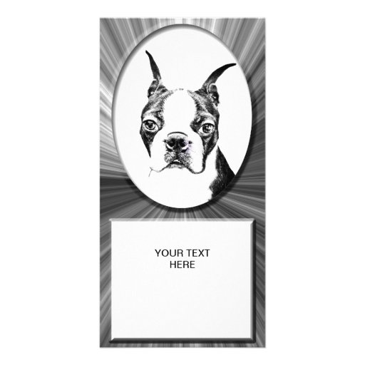Boston Terrier Personalized Photo Card