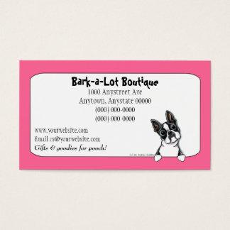 Boston Terrier Pet Industry Custom Border Business Card