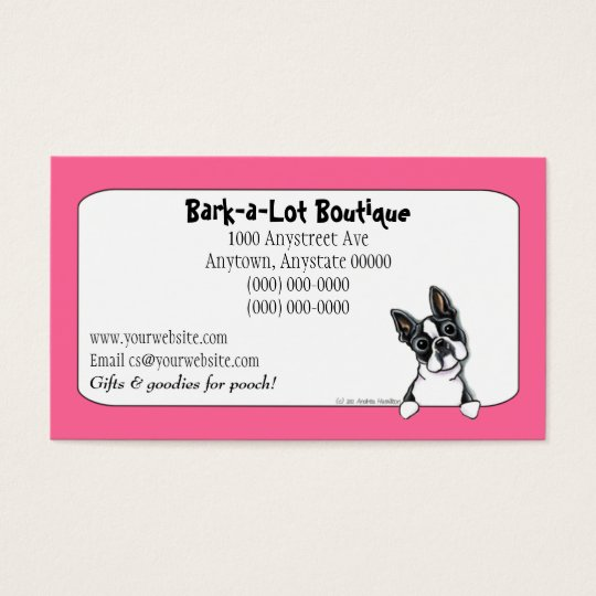 Boston terrier pet industry custom border business card zazzle boston terrier pet industry custom border business card reheart Choice Image
