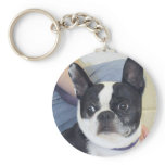 Boston Terrier Photo Keychain