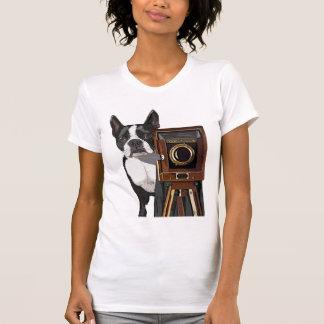 Boston Terrier Photographer 2 T Shirt