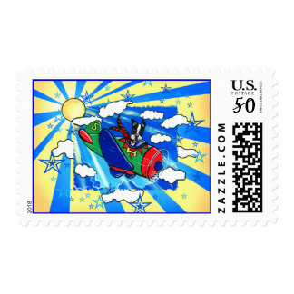 Boston Terrier Pilot Postage