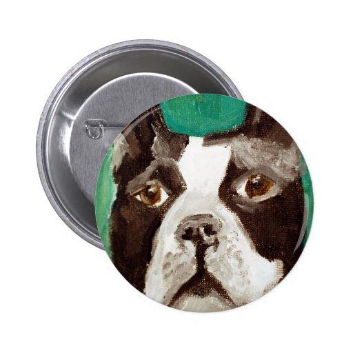Boston Terrier Pin Redondo 5 Cm