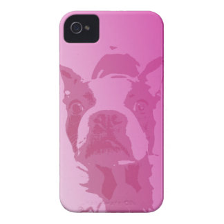 Boston Terrier Pink iPhone 4 Case-Mate iPhone 4 Case
