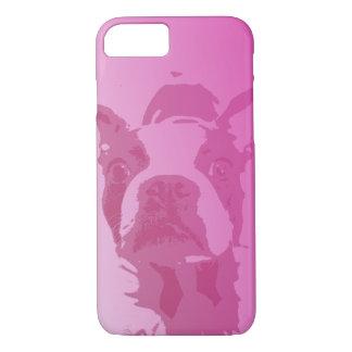 Boston Terrier Pink iPhone 7 case