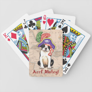 Boston Terrier Pirate Bicycle Playing Cards