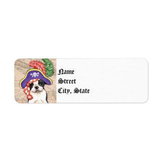 Boston Terrier Pirate Label