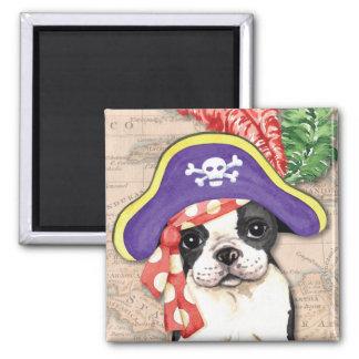 Boston Terrier Pirate Magnet