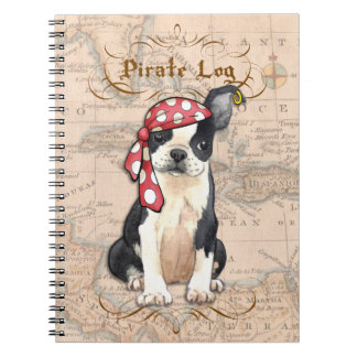 Boston Terrier Pirate Notebook