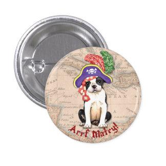 Boston Terrier Pirate Pinback Button