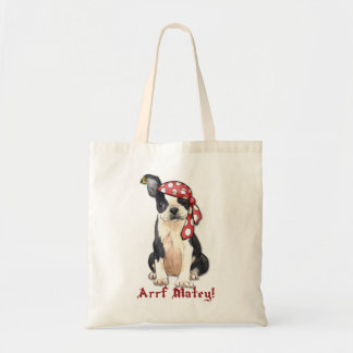 Boston Terrier Pirate Tote Bag