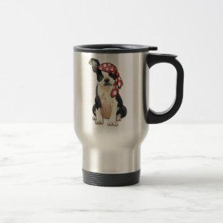 Boston Terrier Pirate Travel Mug