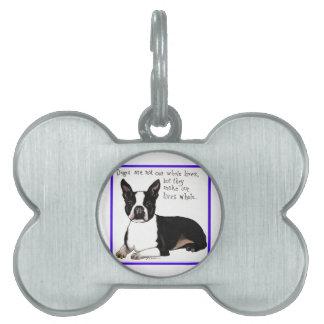 Boston Terrier Placa Mascota