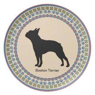 Boston Terrier Plates
