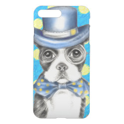 Uncommon iPhone 7 Plus Clearly™ Deflector Case with Boston Terrier Phone Cases design