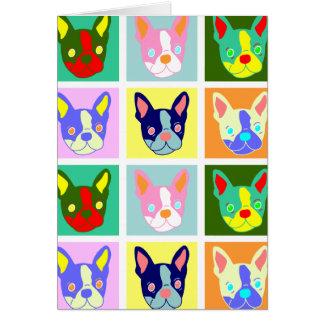 Boston Terrier Pop Art Card