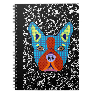 Boston Terrier Pop Art Notebook