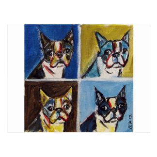 Boston Terrier pop art painting Postcard