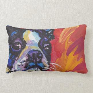 Boston Terrier Pop Art Pillow! Lumbar Pillow