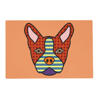 Boston Terrier Pop Art Placemat