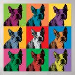 Boston Terrier Pop-Art Poster