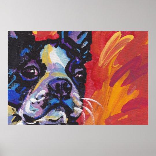 Boston Terrier Pop Art Poster Print