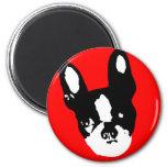 Boston Terrier Pop Art Refrigerator Magnet