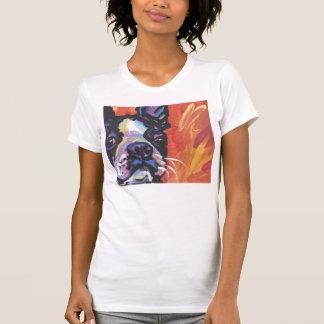 Boston Terrier Pop Art T shirt