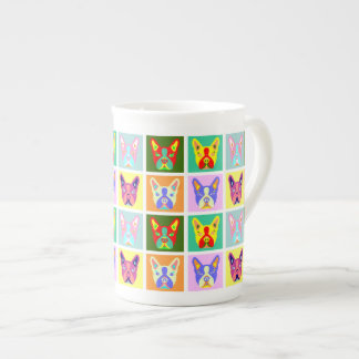 Boston Terrier Pop Art Tea Cup