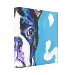 boston terrier Pop Dog Art on Wrapped Canvas Stretched Canvas Print
