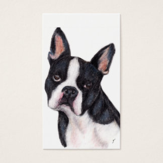 Boston Terrier Portrait Business Cards