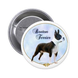 Boston Terrier Portrait Button