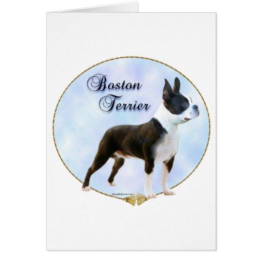 Boston Terrier Portrait Card