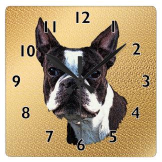 Boston Terrier Portrait Clocks