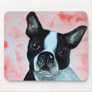 Boston Terrier Portrait Mouse Pad