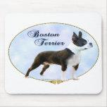 Boston Terrier Portrait Mouse Pads
