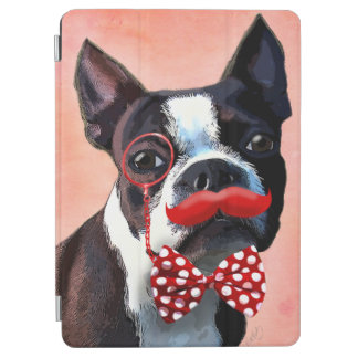 Boston Terrier Portrait with Red Bow Tie and 2 iPad Air Cover
