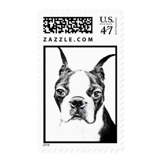 Boston Terrier Postage