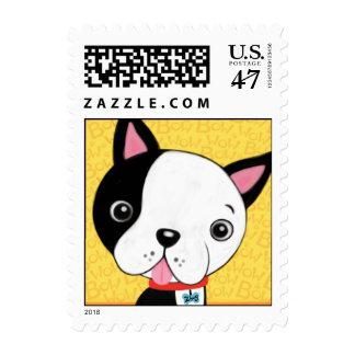 Boston Terrier Postage Stamp